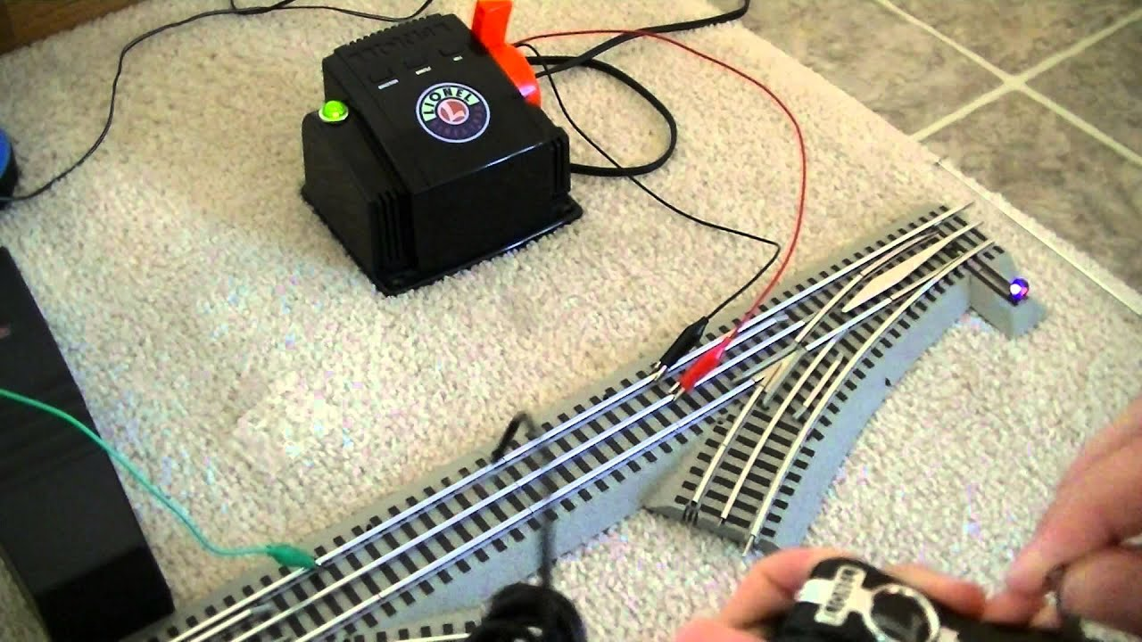 lionel fastrack comand switches youtube rh youtube com Lionel FasTrack Switch Control Lever Lionel FasTrack Switch Control Lever