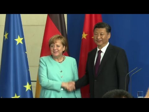 Angela Merkel meets Xi Jinping in Berlin