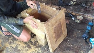 Amazing Skills Woodworking Extremely High Technical // Ideas Innovation In Making Furniture