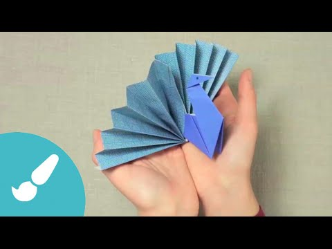 Pavo real en Origami 3D I Peacock origami 3D - YouTube