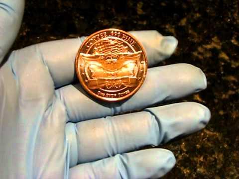 Copper Bullion Rounds Fine .999 2012 Saint Gaudens