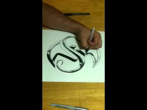 Strange music logo time lapse