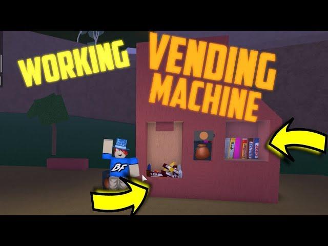 WORKING VENDING MACHINE! Tutorial Roblox Lumber Tycoon 2
