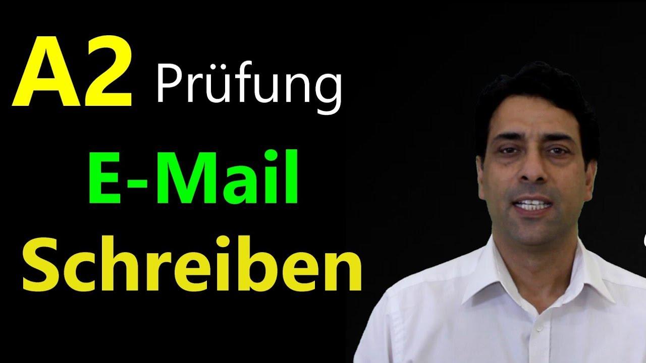 A2 Prüfung E-Mail schreiben A2 امتحان الكتابة
