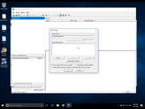Forensic Acquisition in Windows - FTK Imager