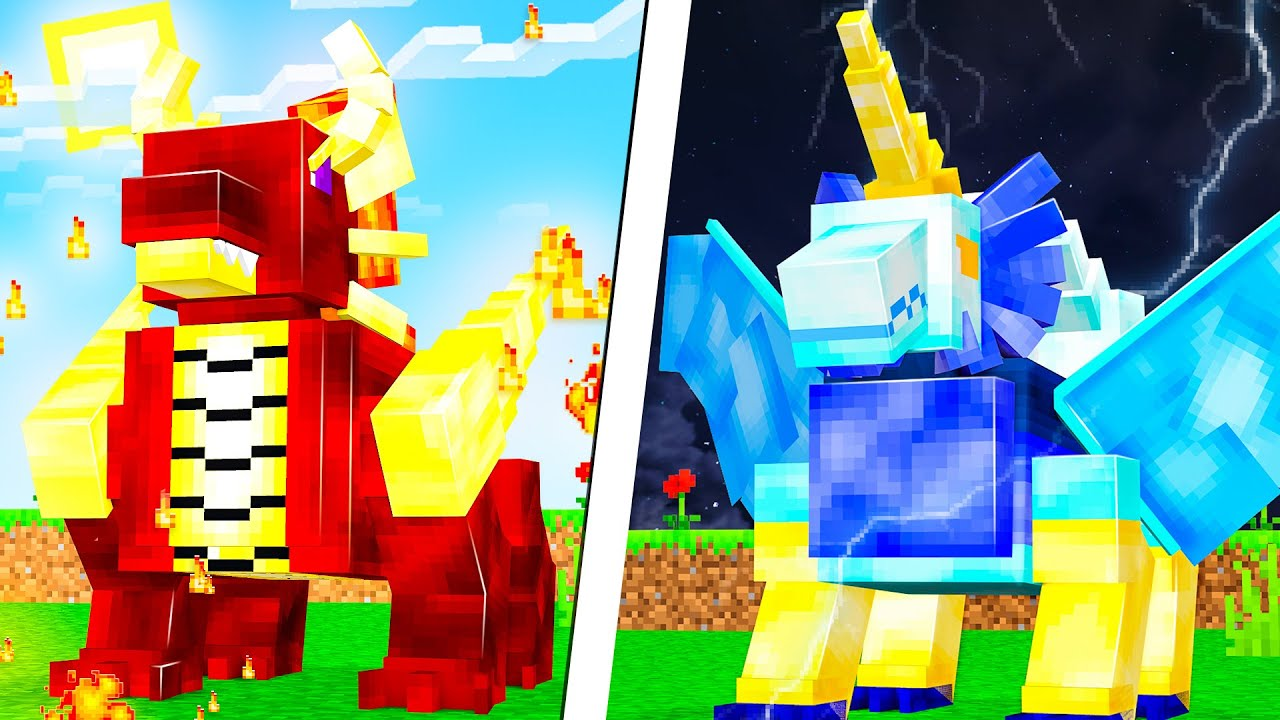 TAMING MYTHIC DRAGON PETS IN MINECRAFT (RARE)