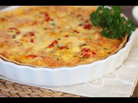 recette-de-quiche-au-poulet-et-légumes-/-chicken-and-vegetables-quiche-/-كيش-الدجاج-و-الخضر