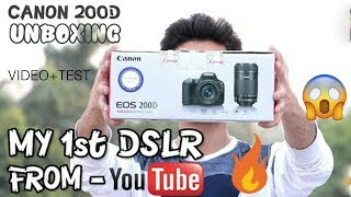 Canon 200D Unboxing and Review??? || Video Test