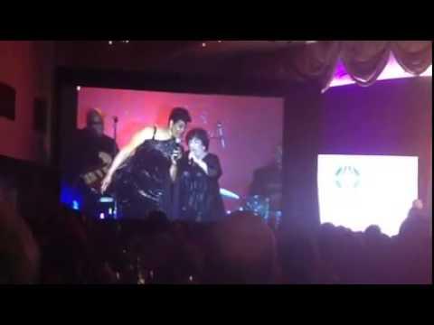Nancy Kranzberg sings with Denise Thimes at 2015 A&E Awards