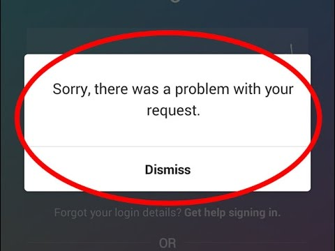 Image result for How To Fix Sorry there was a problem with your request