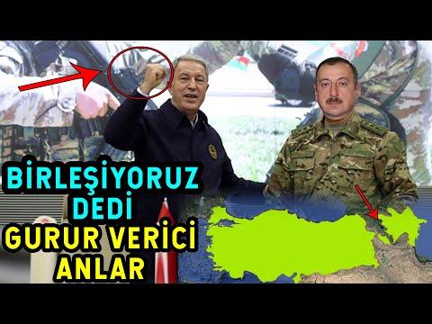 Hulusi Akar Aliyev'in Yüzüne BİRLEŞİYORUZ dedi! NAHÇİVAN-TÜRKİYE-AZERBAYCAN