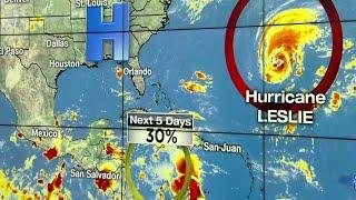 Hurricane Leslie, tropical wave eyed in tropics