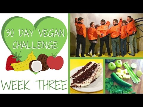 WEEK 3: VEGAN diner, Crystal Maze and my FAMILY weigh in!  | 30 DAY VEGAN CHALLENGE