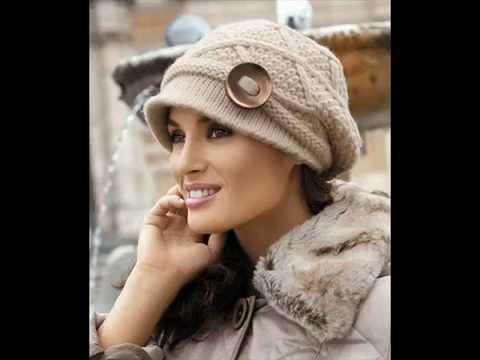 вязаные шапочки для женщин коллекция Youtube