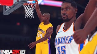 NBA 2K18 HD Gameplay: All Time Lakers vs. All Time Thunder/Sonics