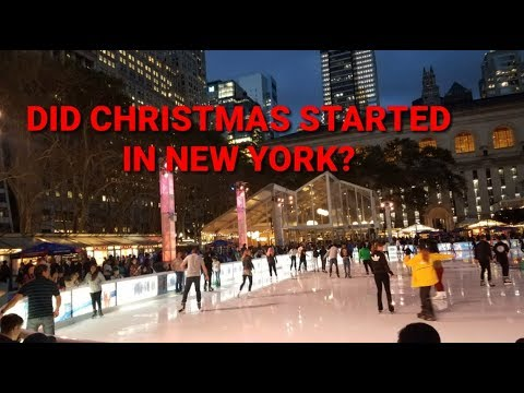 Already Christmas In New York? - Bryant Park, Midtown Manhattan, NYC