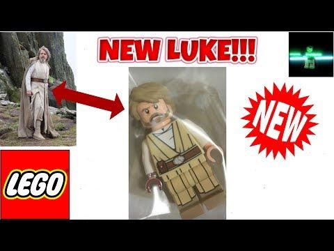 New Last Jedi Lego Star Wars Luke Skywalker Minifigure Youtube