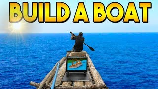 I Played BUILD A BOAT on a boat.. | ROBLOX/VLOG