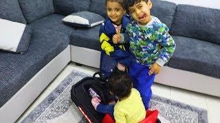 شرينا سيارة الاسكوتر  وانس ولمار وتالين انهبلوا عليها !!