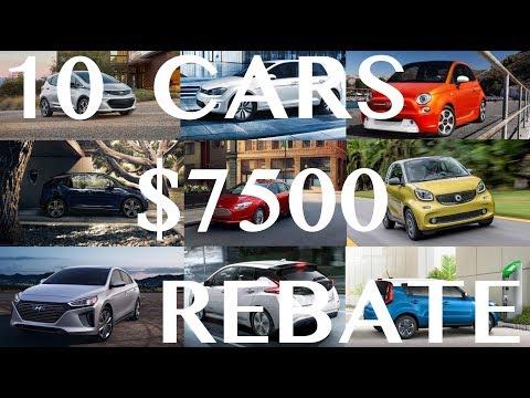 10 EV's That Qualify For $7500 Credit