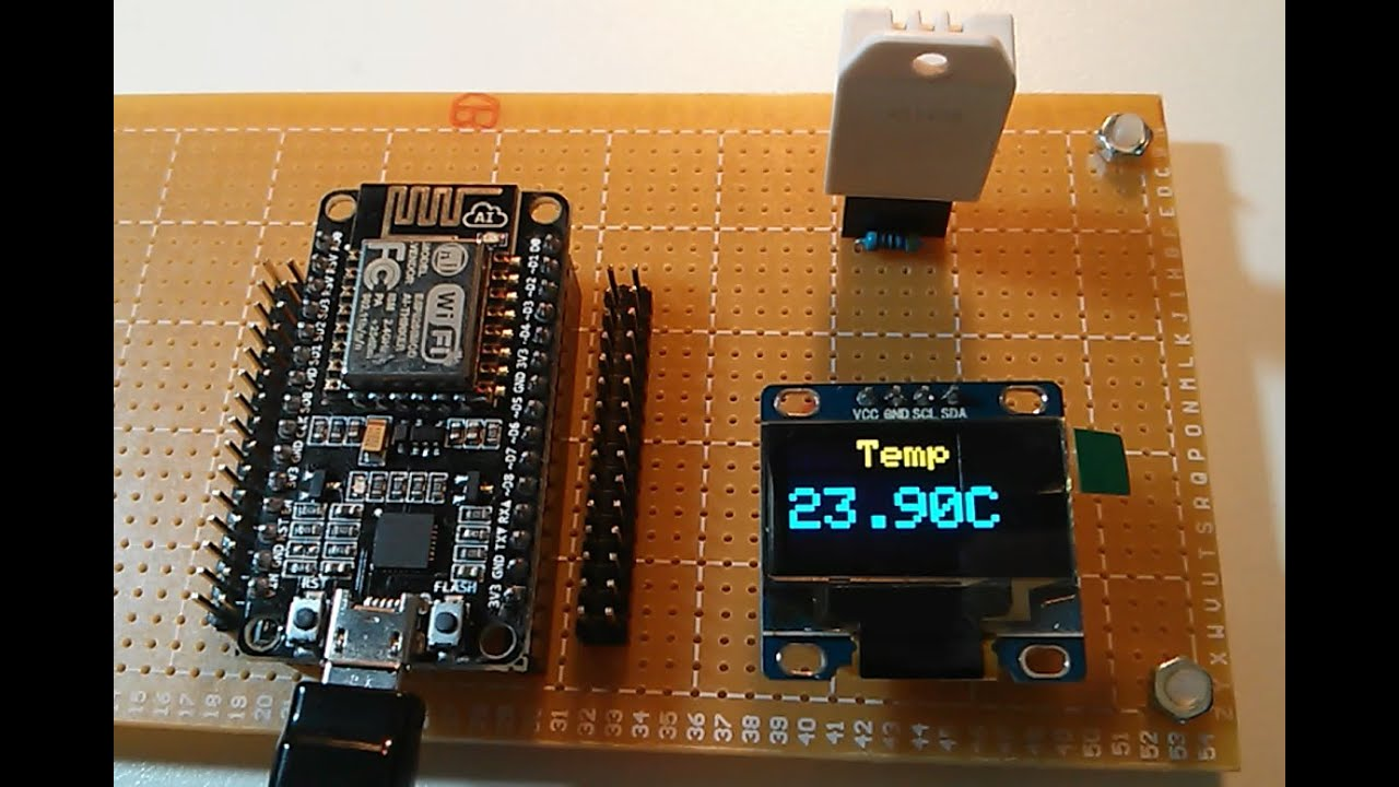 Esp wifi iot weather station with thingspeak youtube