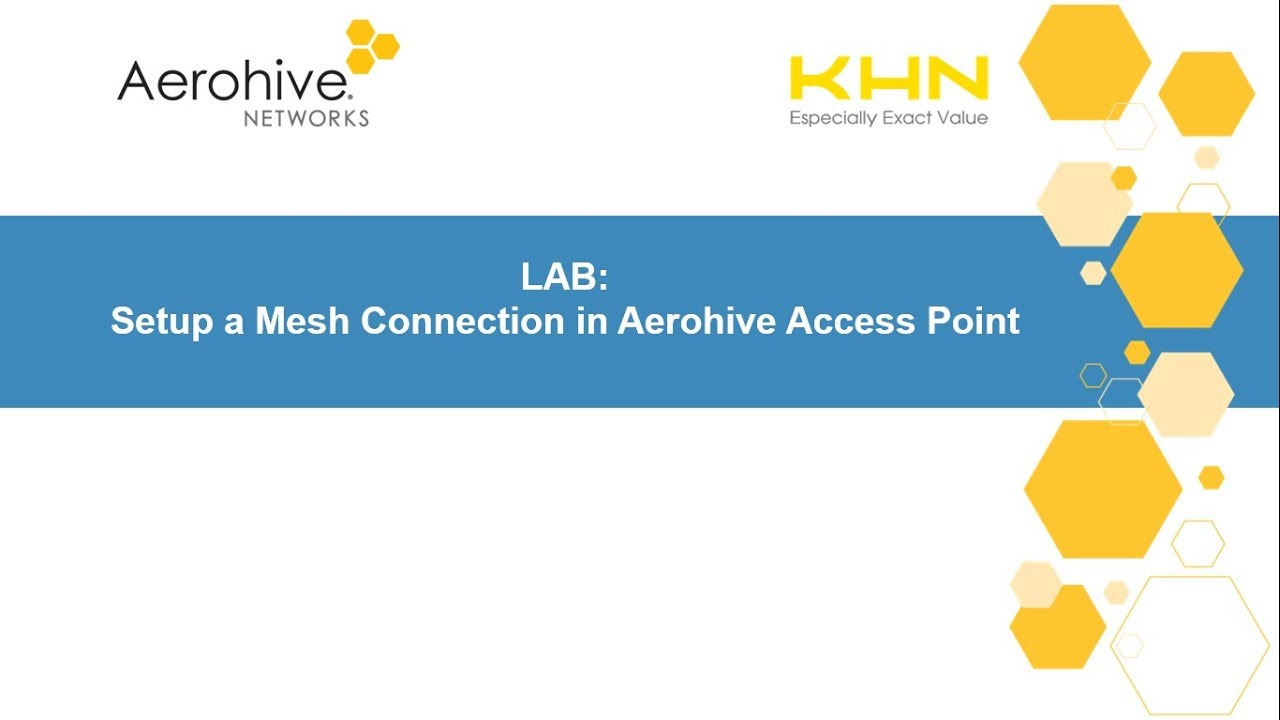 Setup a Mesh Connection in Aerohive AP