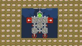 Bad Piggies - SILLY ALL TNT VS ROBOT PIG (Field of Dreams)