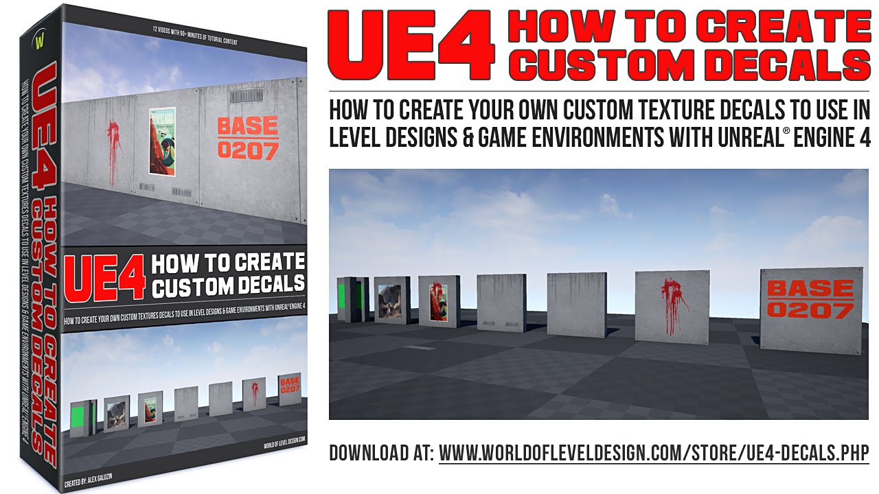 UE4 Decals: How To Create Custom Texture Decals Download