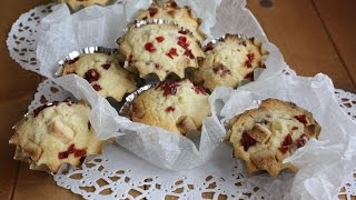 How to make cranberry white chocolate muffins クランベリーホワイトチョコマフィン レシピ thumbnail