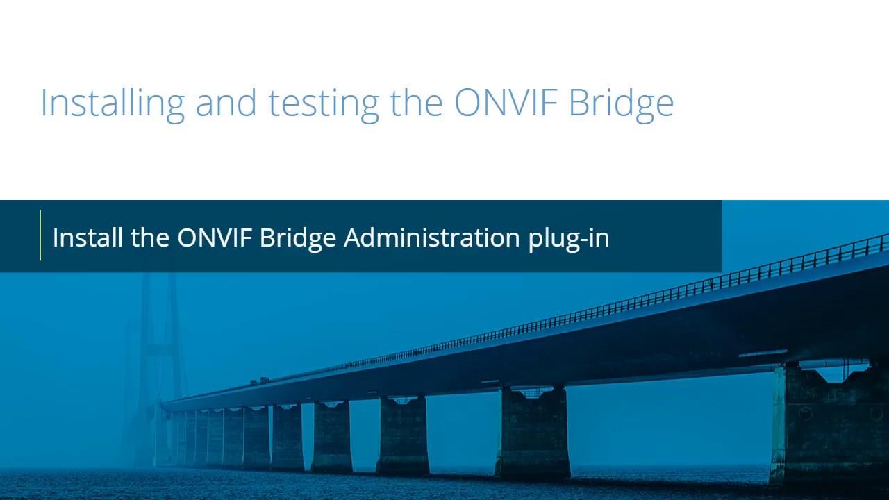 Milestone ONVIF: Install ONVIF Plug-in