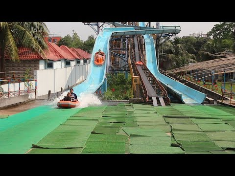 Nandan Water Coaster | Big Water Roller Coaster in Nandan Park | Coaster Tower Water Slide