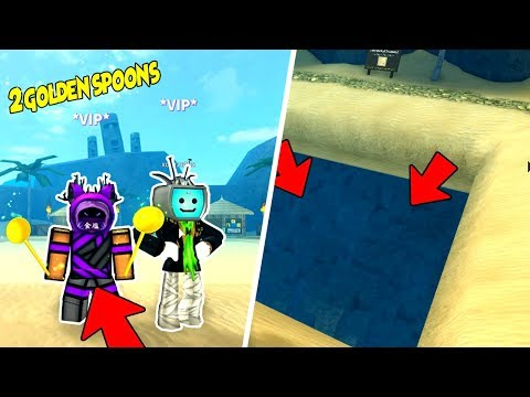 Can 2 Golden Spoons Reach The Bottom of The Pit | Roblox Treasure Hunt Simulator w/XdarzethX