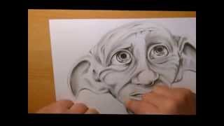 Dobby Speed Drawing , A Must see for all harry potter fans and artists allike.