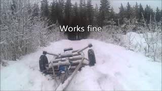 Car tow snow plow