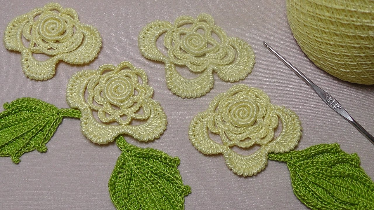 вязание роз на бурдоне