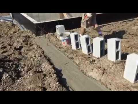 How to lay Block New Construction