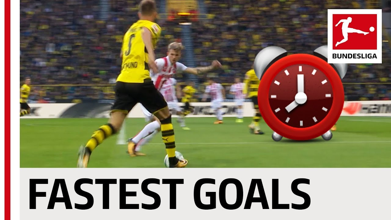 Top 10 Fastest Goals 2017/18 - BVB, Leipzig & More - YouTube