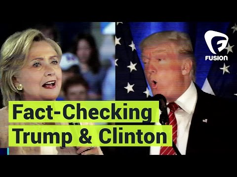 Fact-Checking Hillary Clinton & Donald Trump – Here