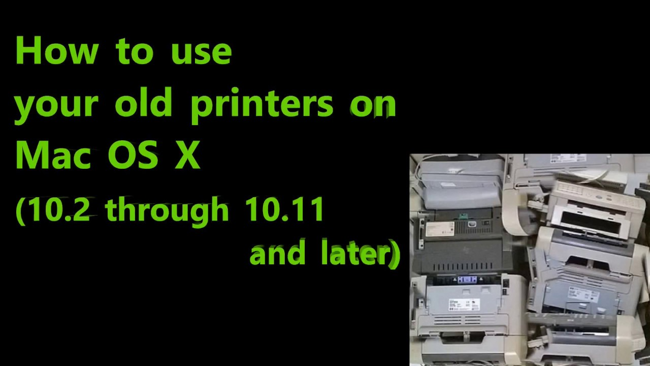 Tutorial - Use Canon MP Printers on Mac : Fix printer not recognised (  macOSX, Sierra, High Sierra )
