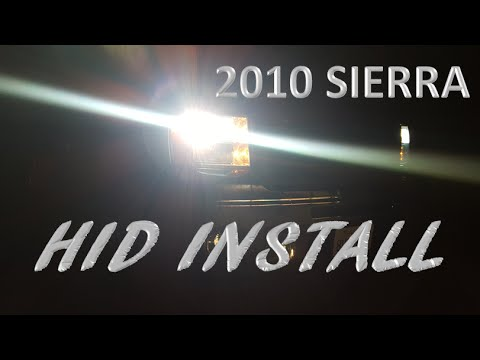 HOW TO INSTALL AN HID KIT ON A GMC SIERRA