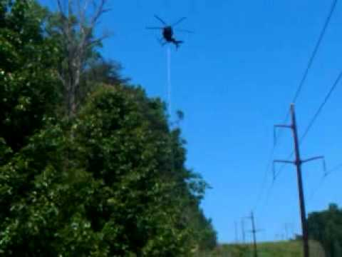 helicopter tree cutting