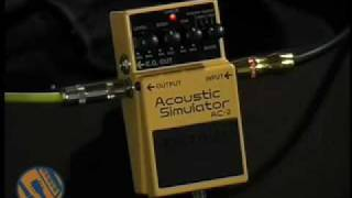 Boss AC-2 Acoustic Simulator: Stompbox Walkthrough Video