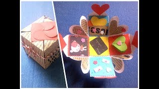 Diy Paper Craft Idea Gift Box Sealed With Hearts Video Clip