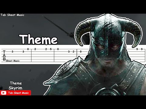 Mix - Skyrim - Theme Guitar Tutorial