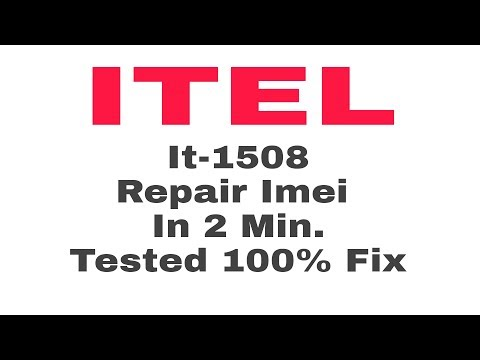 Itel It 1508 Imei 100% Done By Tool - YouTube