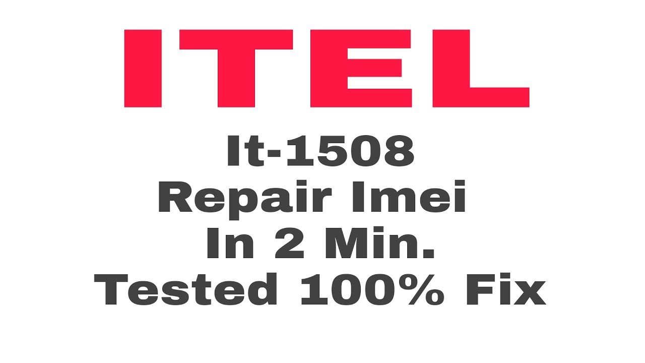 v2Movie : Itel It 1508 Imei 100% Done By Tool