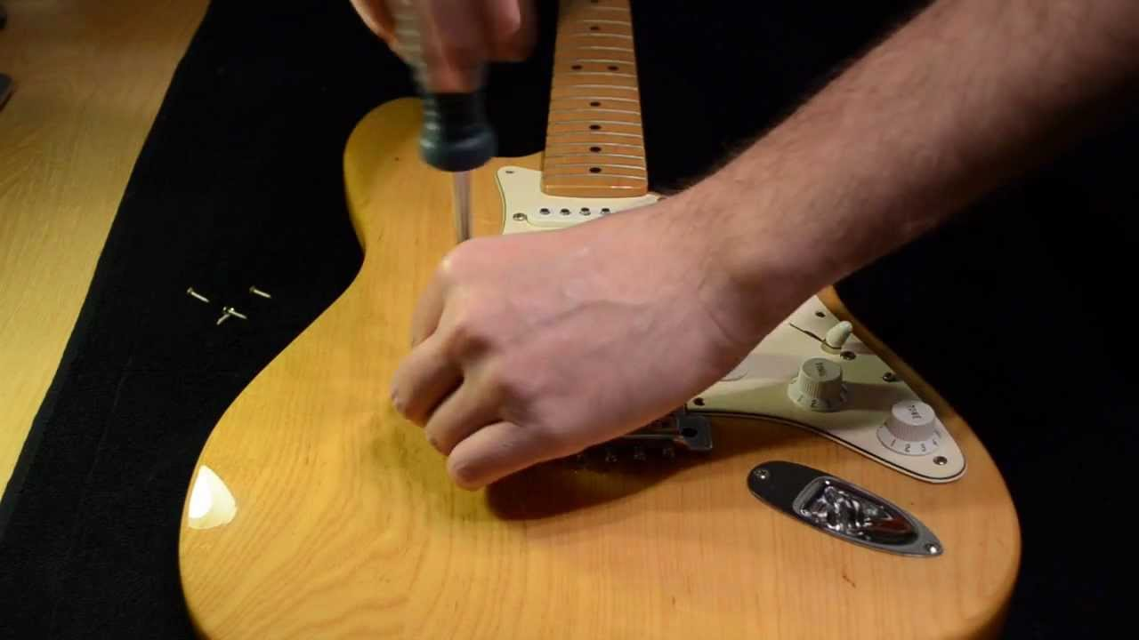 How To Install Dimarzio Hs 3 In Fender Strat Part 1 Youtube Area 58 Wiring Diagrams