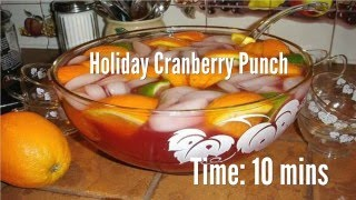 Holiday Cranberry Punch Recipe