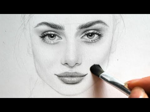 drawing-and-shading-a-girl-/-female-face---my-sketchbook-practice