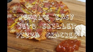 Keto Skillet Pizza Crackers (that was a mouthful)